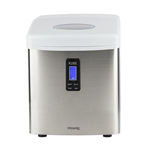 H.Koenig KB15 Eiswürfelmaschine / Eismaschine / 15kg Eiswürfel pro Tag / Produktionszeit 6 - 15...