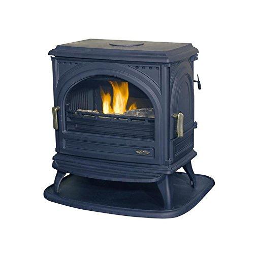 GODIN - 366102 - Poêle à bois bûches Petit Carvin - 8kW - Noir anthracite
