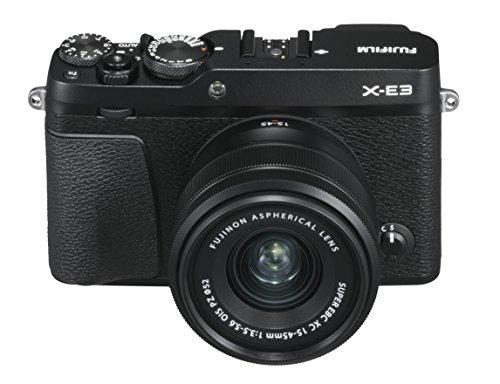 Fujifilm X-E3 Black Fotocamera Digitale 24MP con Obiettivo XC15-45mmF3.5-5.6 OIS PZ, Sensore CMOS X-Trans III APS-C, Mirino EVF, Schermo LCD Touchscreen 3', Filmati 4K, WiFi e Bluetooth, Nero