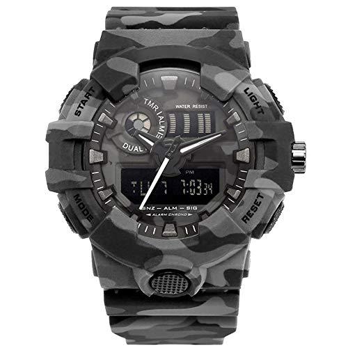 mens sport orologio digitale - 5 barre impermeabile militare digitale orologi con allarme/timer/Sig,...