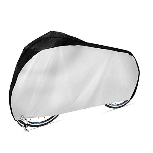 Dokon Fahrradabdeckung 420D Wasserdichtes Atmungsaktives Oxford-Gewebe Fahrradgarage mit Schlossösen Schutz, Universal Fahrrad Schutzhülle - Schwarz