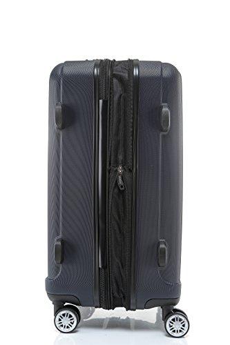 BEIBYE TSA-Schloß 2080 Zwillingsrollen 3 tlg. Reisekofferset Koffer Kofferset Trolley Trolleys Hartschale (Dunkelblau) - 6