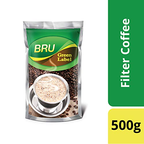 BRU Green Label Coffee, 500g Poly Pack