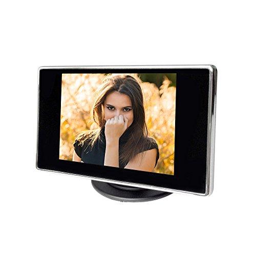 KKmoon 3.5 'Definizione Hign LCD Car auto colori TFT monitor con ingresso AV, può collegarsi con telecamera di retromarcia, DVD, VCD, ecc
