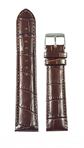 Like 22 Mm Croco Leather Padded Watchband (Brown)
