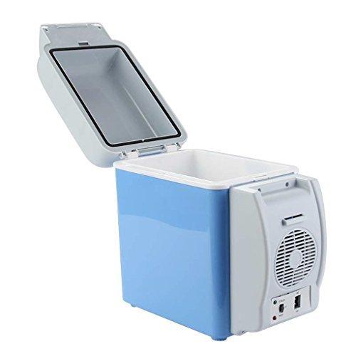 MORADIYA FRESH (LABEL) 12V Portable Thermoelectric Car Cooling and Warming Refrigerator (Blue, 7.5 L)