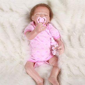 ZZSQ Realista Muñeca Bebe 20 Pulgadas Realista Reborn Baby Dolls Ojos Cerrados Durmiendo Bebé Niña Silicona Suave Vinilo simulación Bebe Dolls Niño Juguete Regalos