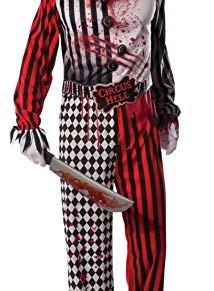 Rubies Hombre EVIL PAYASO SINIESTRO Circo Disfraz de Halloween Disfraz