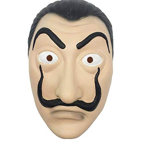Inception Pro Infinite máscara–Salvador Dalí–La Casa de Papel–Realista–Suave Carnaval–Halloween–Cosplay–Disfraz–Accesorios