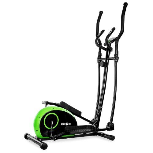 Klarfit ELLIFIT BASIC 10 Vélo elliptique (ordinateur de bord, pulsomètre, crosstrainer, 8 positions, contrôleur de pouls, affichage LCD, max. 100kg) - vert