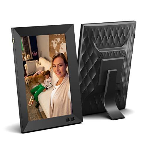 NIX 8-Zoll-Digitalfotorahmen X08H Schwarz - Digitalfotorahmen mit 1280 x 800 HD-Display, Bewegungssensor, automatischer Fotodrehung, USB- und SD-Kartensteckplätzen und Fernbedienung