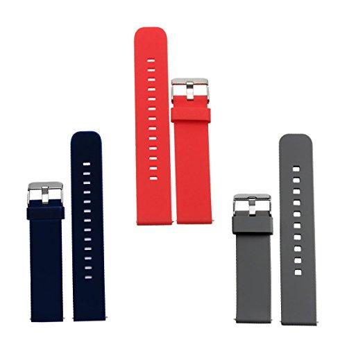Adallor Silicone Cinturini, 18 20 22 mm Rilascio Rapido Silicone Cinturini Gomma Morbida Cinghia...