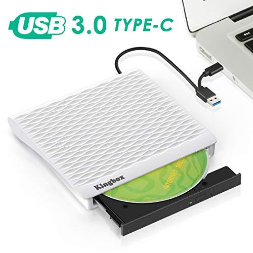 lettore dvd cd esterno,Masterizzatore CD,Unità dvd cd USB3.0 Tipo-C CD/Dvd Drive Dispositivo...