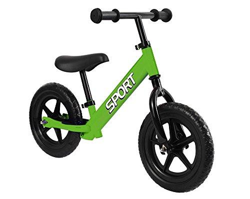 Balance Bike - bicicletta per bambini senza pedali da 18 mesi a 5 anni - verde