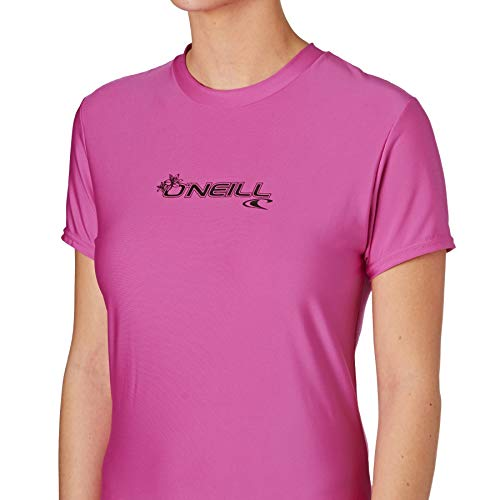 O´neill Wetsuits – Basic Skins Rash Tee S/S, Colore:, Donna, Viola, M