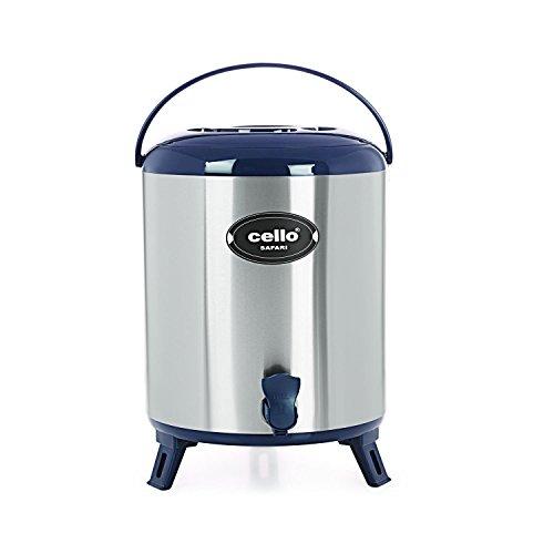 Cello Safari Stainless Steel Jug, 10 Litres, Blue