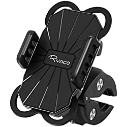 RYACO Soporte de Móvil Deportiva para Bicicletas y Motos, Anti Vibración Soporte Móvil Bicicleta Universal con 360 Rotación para iPhone, Samsung Galaxy, LG, HTC, Motorola, GPS y Otros Dispositivos