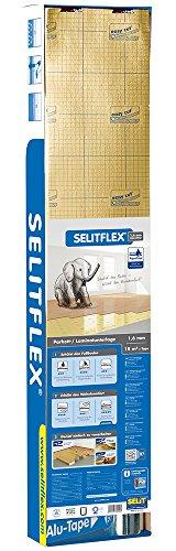 Selitflex - Materassino isolante per parquet e laminato, 1.6 mm, 2 in 1