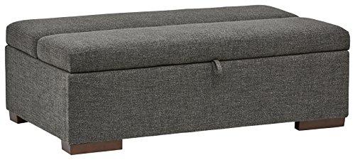 Marchio Amazon -Rivet, ottomana a divano-letto, stile moderno, larghezza 122 cm, colore grigio...
