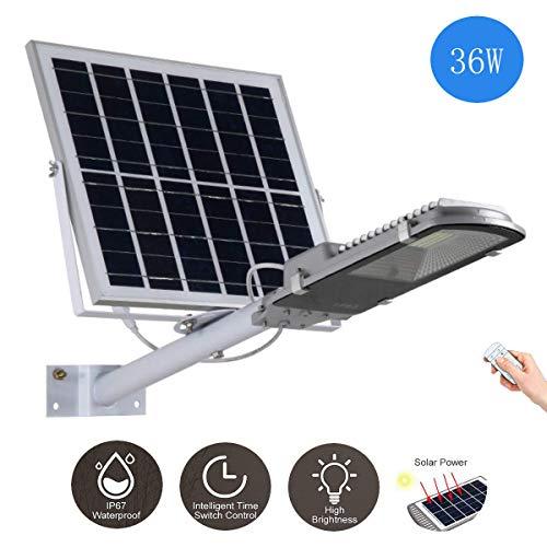 Lampione solare a LED 18W-400W Proiettore per esterni Lampada di sicurezza ad alta luminosità Con...