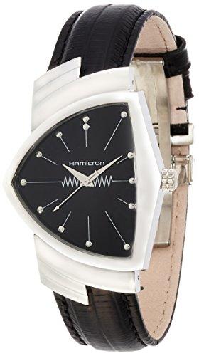 Hamilton Damen Analog Quarz Uhr mit Leder Armband H24411732