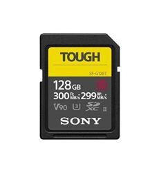 Sony - Tarjeta de Memoria Flash SDHC de 32 GB – la Serie UHS-II SD Tough G más Dura y rápida del Mundo 128 GB