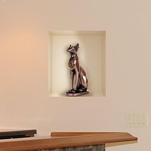 Ambiance-Live Wandtattoos Ägyptische Katze Bastet - 40 x 35 cm