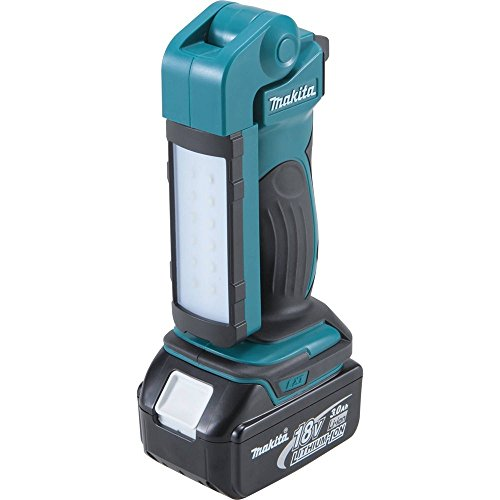 An inexpensive work light, this offers 2 light modes and it's fully adjustable vertically and sideways for use in different angles. The design is compact and portable with a rubberised grip for better handling. Again if you don't already have Makita tools you need to purchase a battery separately.