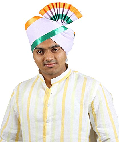 eKolhapuri Traditional Handstitched Ready To Wear Indian Tricolor Lining Polyester Pheta (Turban Safa) for Men