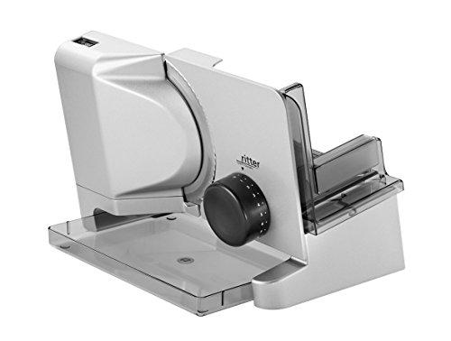 Ritter E16 Duo Plus - Máquina cortafiambres con motor ecológico, color plata metálica