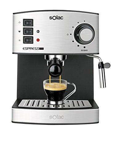 Solac CE4480Espresso-Macchina da caffè, capacità 1,25l, 19bar, vaporizzatore