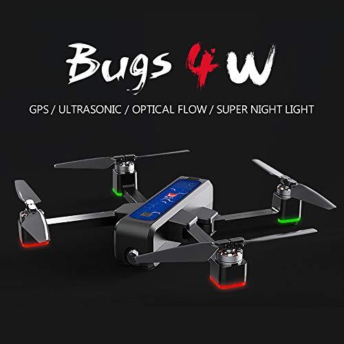 Mobiliarbus RC Drone MJX Bug 4W Brushless GPS con Fotocamera 2K 5G WiFi FPV Posizionamento del Flusso Ottico B4W Quadricottero Pieghevole Seguimi Altitudine Hold Drone con 3 batterie Borsa