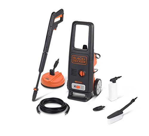 Black+Decker BXPW1600PE Idropulitrice ad Alta Pressione (1600 W, 125 bar, 420 l/h) con Patio Cleaner...