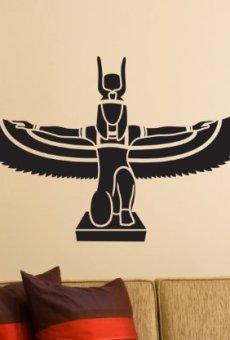 Pegatinas de Pared, Adhesivo Isis Egipto Diosa Tatuaje de Pared Pegatinas Decoración Pegatinas 1M378