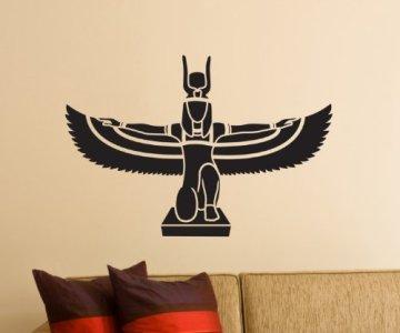 Pegatinas de Pared, Adhesivo Isis Egipto Diosa Tatuaje de Pared Pegatinas Decoración Pegatinas 1M378 3