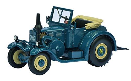 Schuco-450896100--Tracteur-Lanz-Eilbulldog-avec-SOFTTOP-ouvert-masstab-1-32-voitures-et-des-Transports-modle-Bleu