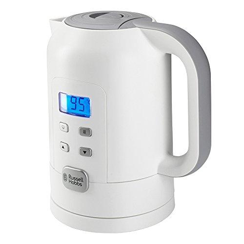 Russell Hobbs Precision Control 21150 -70 Wasserkocher (Warmhaltefunktion, Elektronische Temperatureinstellung mit LCD-Anzeige), weiß