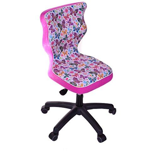 Good Chair pr-sss4mcwk + P Storia Silla para niños Twist Mariposas con reposapiés poliéster, 53x 53x 96cm, Multicolor