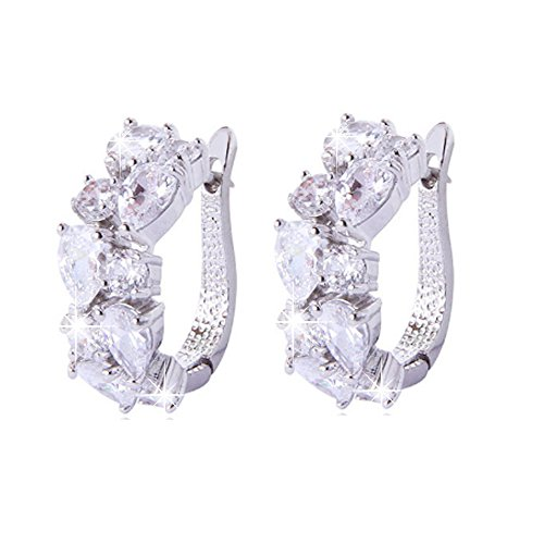 Jewels Galaxy Limited Edition Luxuria Collection Copper Drop Earring for Women (Off-White)(SMNJG-ERGI-1024)