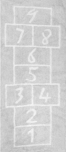 Aratextil Pata Coja Tappeto per bambini, cotone, Grigio, 90x 200cm