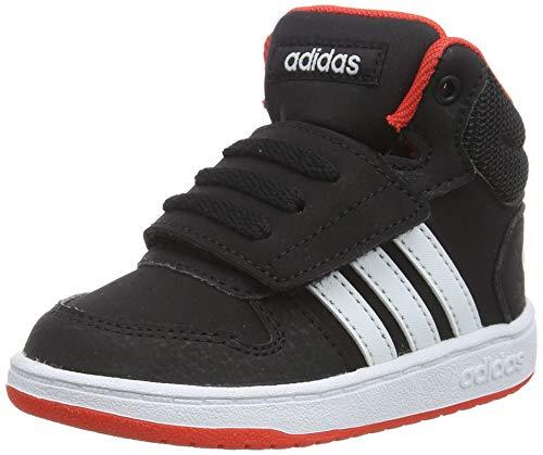 adidas Hoops Mid 2.0 I, Scarpe da Ginnastica Basse Unisex-Bimbi, Nero (Cblack/Ftwwht/Hirere Cblack/Ftwwht/Hirere), 21 EU