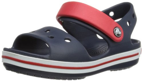 Crocs Crocband Sandal Kids, Sandali con Cinturino alla Caviglia Unisex - Bambini, Blu (Navy/Red), 20/21 EU