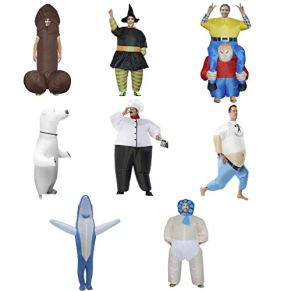 QCRLB Ropa Inflable alienígena Artículos Divertidos Fiesta de Halloween Ropa for Padres Fiesta Divertida de Navidad Tiburón de Halloween, Big White Bear, Popeye, etc. Ropa Inflable (Color : Chef)