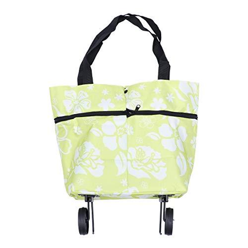 BESTOMZ Shopping bag pieghevole pieghevole con ruote Carrello spesa trolley Borse pieghevoli...