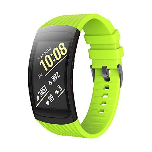 NotoCity Cinturino per Samsung Gear Fit 2 / Gear Fit 2 PRO Sostitutivo in Silicone Cinghia (L, Verde)