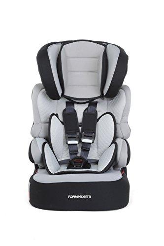 Foppapedretti Babyroad Seggiolino Auto, Gruppo 1/2/3 (9-36kg), per Bambini da 9 mesi fino a 12 anni, Nero (Carbon)