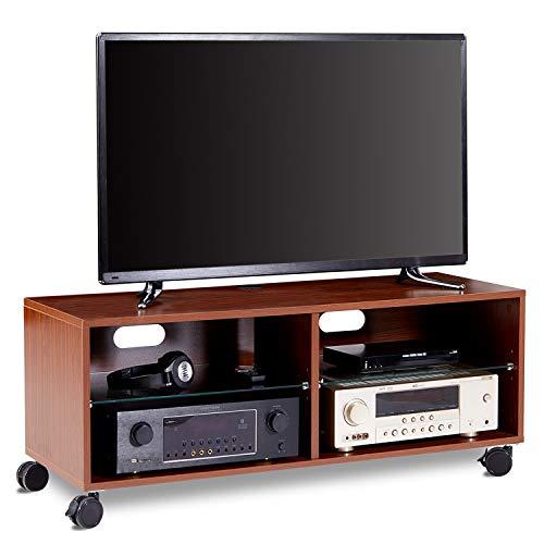 RFIVER Mobile TV Scandinavo con Ruote Supporto per TV in Legno TS5002