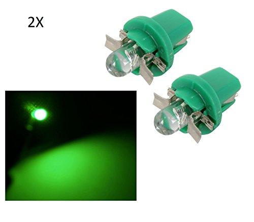 2 LUCI LAMPADA LED VERDE T5 B8.5D lampadina auto 12V luce car cruscotto quadro