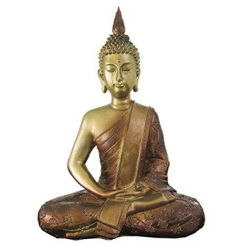 Figura buda iluminado de resina en color dorado y marrón   Tamaño: 29x13x40 cm   Portes gratis 3