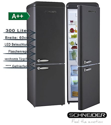 Schneider SL300CB a + + retro design di frigorifero di combinazione EEK: a + + 60cm di...